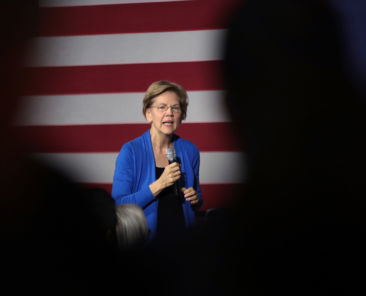 CEDAR RAPIDS, IOWA - DECEMBER 21: Democratic presidential candidate Sen. Elizabeth Warren (D-MA) speaks to guests during a campaign stop at the CSPS cultural center on December 21, 2019 in Cedar Rapids, Iowa. The 2020 Iowa Democratic caucuses will take place on February 3, 2020, making it the first nominating contest for the Democratic Party in choosing their presidential candidate to face Donald Trump in the 2020 election. (Photo by Scott Olson/Getty Images)