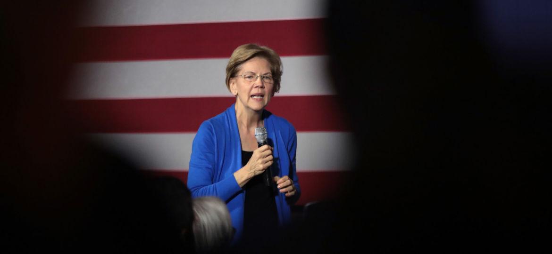Presidential Candidate Elizabeth Warren Campaigns In Cedar Rapids, IA