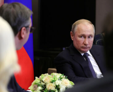 Russian President VladimirPutin attends a meeting with his Serbian counterpart Aleksandar Vucic in Sochi, Russia December 4, 2019. Sputnik/Mikhail Klimentyev/Kremlin via REUTERS ATTENTION EDITORS - THIS IMAGE WAS PROVIDED BY A THIRD PARTY.
