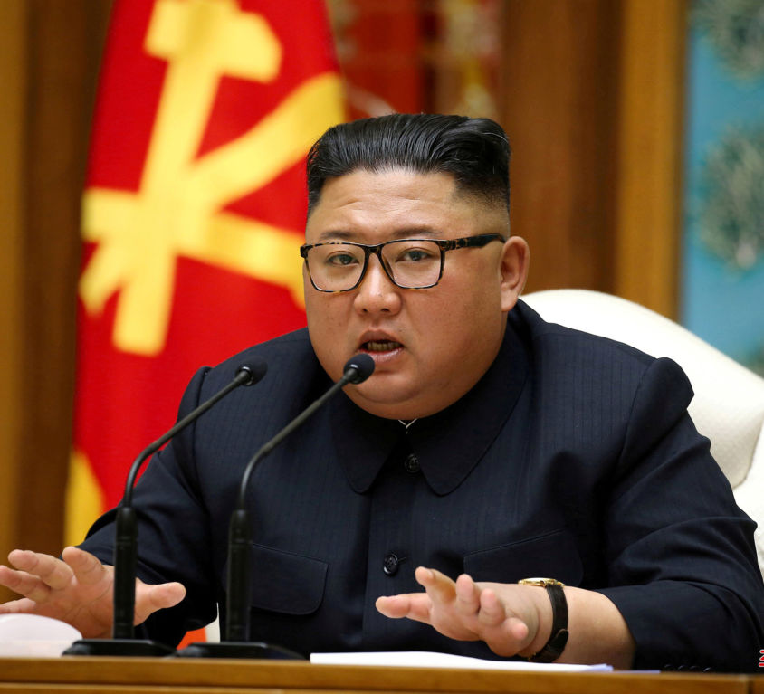 Image: FILE PHOTO: North Korean leader Kim Jong Un takes part in a meeting of the Political Bureau of the Central Committee of the Workers' Party of Korea