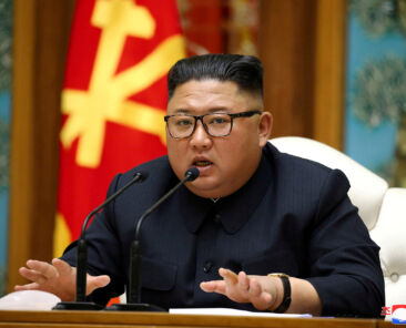 FILE PHOTO: North Korean leader Kim Jong Un speaks as he takes part in a meeting of the Political Bureau of the Central Committee of the Workers' Party of Korea (WPK) in this image released by North Korea's Korean Central News Agency (KCNA) on April 11, 2020. KCNA/via REUTERS/File Photo ATTENTION EDITORS - THIS IMAGE WAS PROVIDED BY A THIRD PARTY. REUTERS IS UNABLE TO INDEPENDENTLY VERIFY THIS IMAGE. NO THIRD PARTY SALES. SOUTH KOREA OUT.