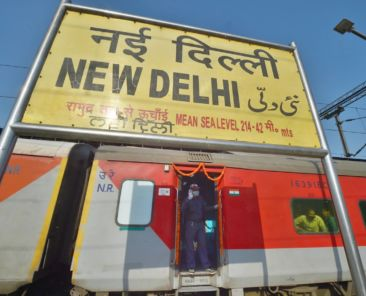 New Delhi: New Delhi-Dibrugarh special train prepares to leave the New Delhi Railway Station following the resumption of passenger train services connecting major cities, during the ongoing COVID-19 lockdown, in New Delhi, Tuesday, May 12, 2020. (PTI Photo/Manvender Vashist) (PTI12-05-2020_000238B)